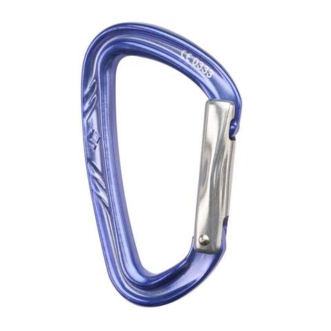 Black Diamond Nitron Straight Gate Carabiner - Outdoor Gear