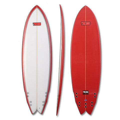 Global Surf Industries 6'0 7S Super Fish Red Rail Surfboard