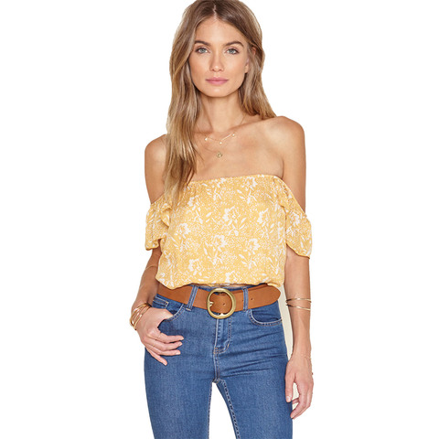 Amuse Society Mariposa Off The Shoulder Woven Top - Women's