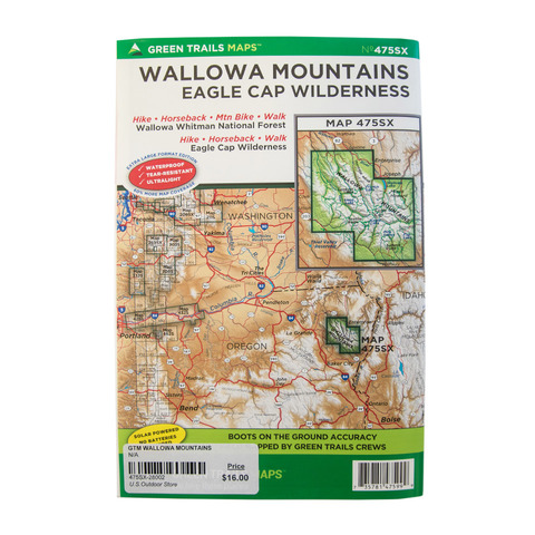 Green Trails Maps Wallowa Mountains
