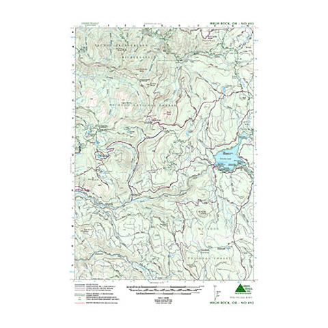 Green Trails Maps High Rock