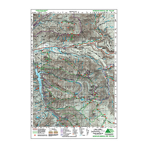 Green Trails Maps McKenzie Bridge