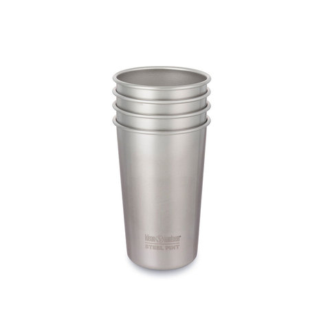 Klean Kanteen 16oz Steel Pint 4 Pack