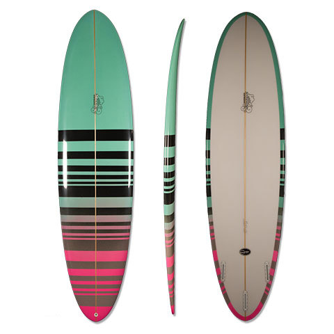 Murdey Surfboards Checkered Egg Surfboard