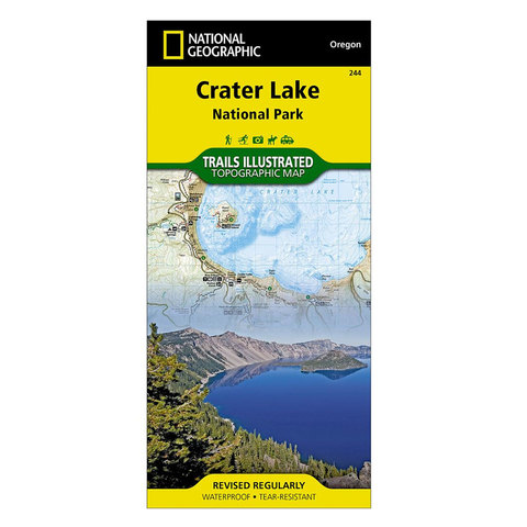 National Geographic Maps Crater Lake National Park