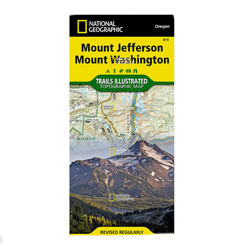 National Geographic Maps Mount Jefferson and Mount Washington Wilderness