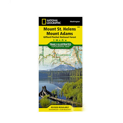 National Geographic Maps Mount St Helens & Mount Adams
