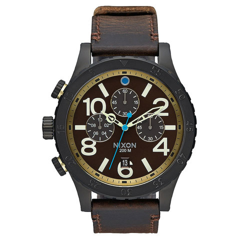 Nixon 48-20 Chrono Leather Watch - Outdoor Gear
