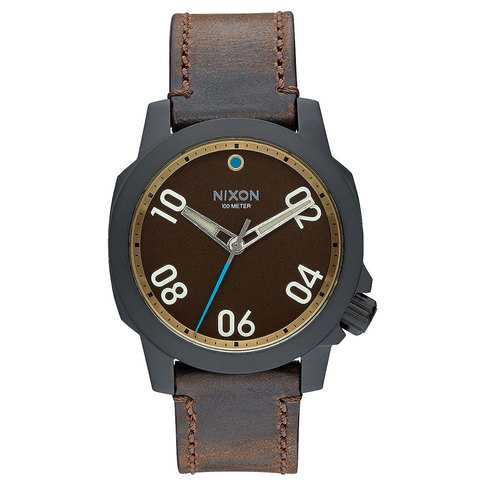 Nixon Ranger 40 Leather Watch - Outdoor Gear