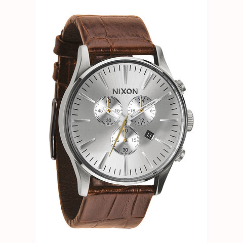 Nixon Sentry Chrono Leather Watch - Outdoor Gear