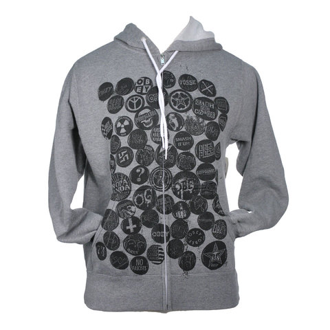 Obey Badge Of Honor Zip Hoodie - Womens