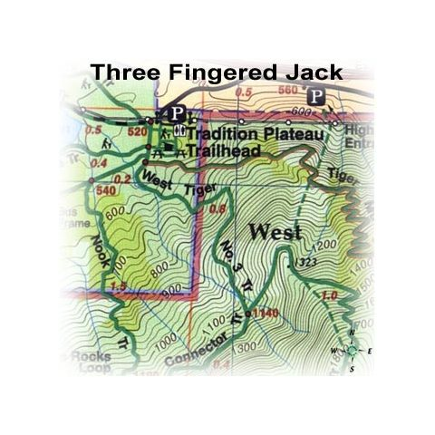 Green Trails Maps Three Fingered Jack