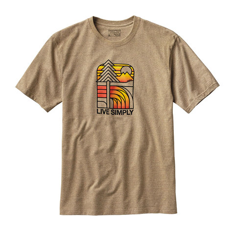 Patagonia Live Simply Landscape Tee - Men's