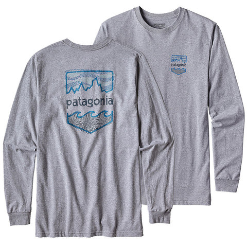 Patagonia Long-Sleeved Badge Cotton/Poly Responsibili Tee