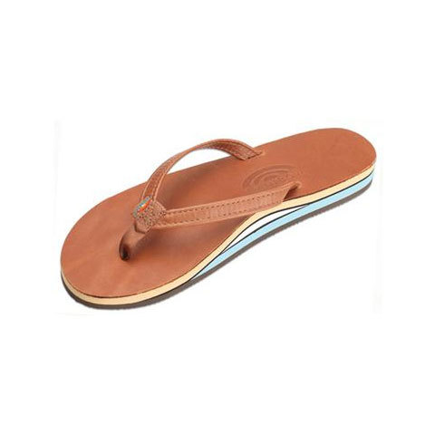 Rainbow Double Layer Classic Leather with Arch Support and Narrow Strap - Women's