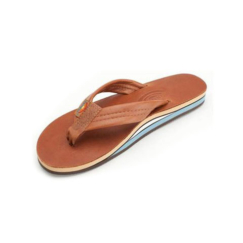 Rainbow Double Layer Classic Leather With Arch Support Sandals