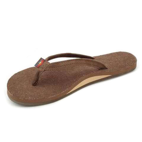 Rainbow Hemp Single Layer Narrow Strap Eco Sandal - Women's