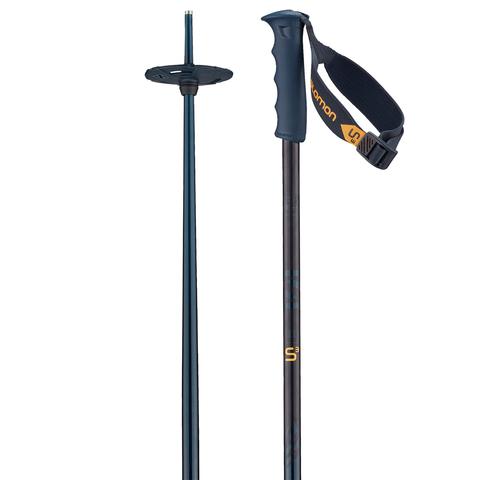 This burly lightweight poles from Salomon are a reliable addition to your ski collection. The Hacker S3 Poles have an ergonomic design with a durable aluminum construction and a powder basket.