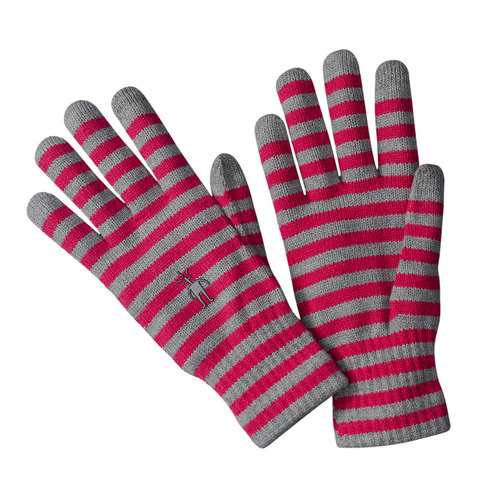 Smart Wool Striped Liner Glove