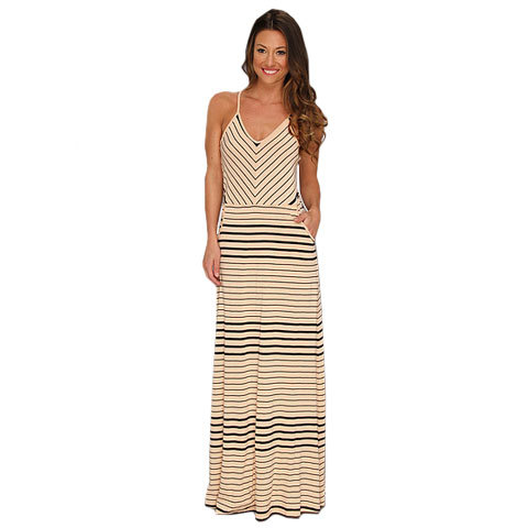 Volcom Between The Lines Maxi Dress - Womens - Volcom (Archive)