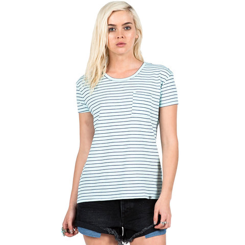 Volcom Lived In Stripe Tee - Womens - Outdoor Gear