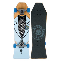 Freedom Dolly Tuxedo Coffin Skate Board