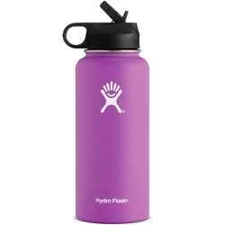 Hydroflask 32 oz Wide Mouth w/ Straw Lid