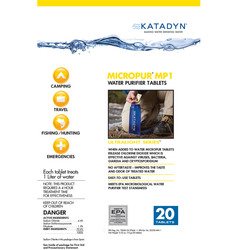 Katadyn Micropur MP1 Purification Tablets (Package of 20)