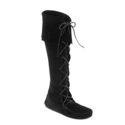 Minnetonka Front Lace Knee Hi Boot - Women's
