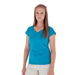 Royal Robbins Essential Ruched S/S V-Neck - Womens