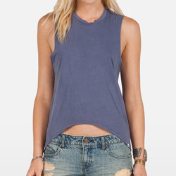 Volcom Lived In Over Dyed Muscle Tank Top - Women's