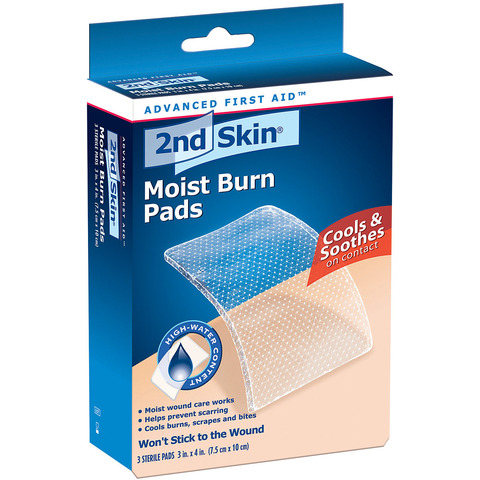 2ND SKIN MOIST BURN PADS