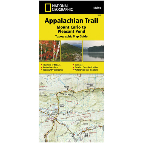 NATIONAL GEOGRAPHIC APPALACHIAN TRAIL MAP GUIDE SERIES