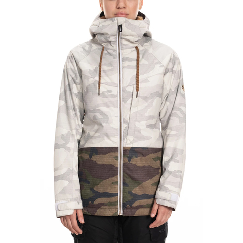 686 Athena Insulated Jacket - Women's White Camo Colorblock Xs thumbnail