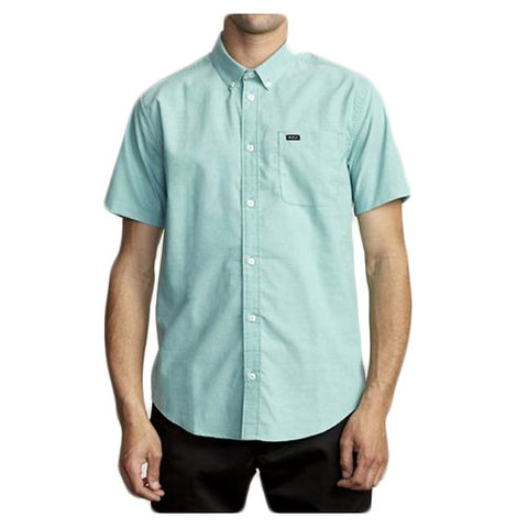 RVCA That'll Do Stretch Short Sleeve Shirt Vintage Green Md