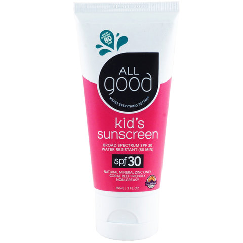 All Good SPF 30 Kid's Sunscreen Lotion, Water Resistant, 3 oz