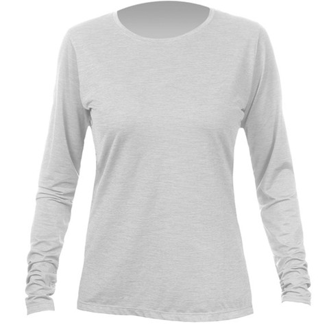 Anetik Breeze Tech Long Sleeve Shirt - Women's Alloy Heathered Xl