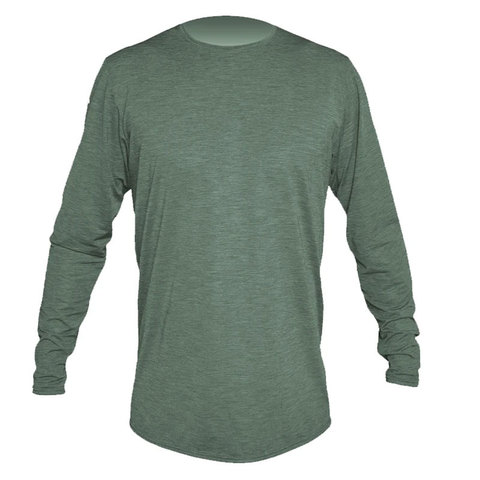 Anetik Low Pro Tech Long Sleeve Shirt Dark Olive Heathered Xl