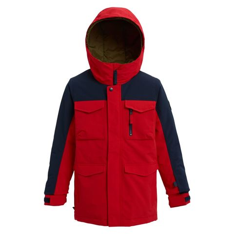 Burton Covert Jacket - Kid's Flame Scarlet / Dress Blue Sm
