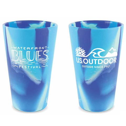 Portland Waterfront Blues Festival Official Silipint Pint Beer Glass