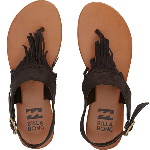 Billabong All Tassled Sandals - Women's Off Black