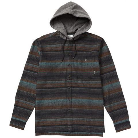 Billabong Baja Hooded Flannel Shirt - Men's Blk Sm