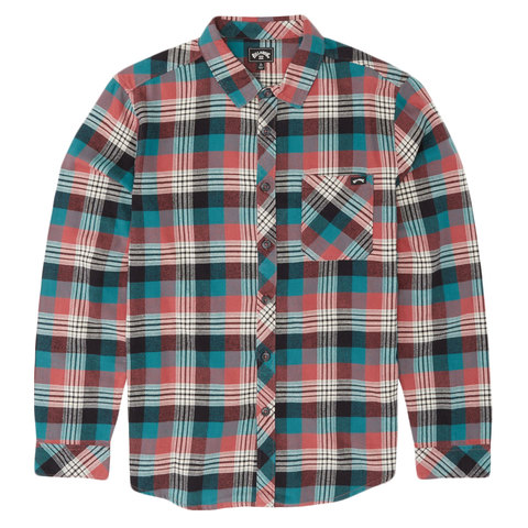 Billabong Freemont Flannel Shirt Rose Dust Xl