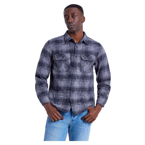 https://www.usoutdoor.com - Brixton Bowery Reserve Flannel Black/grey Mix Sm