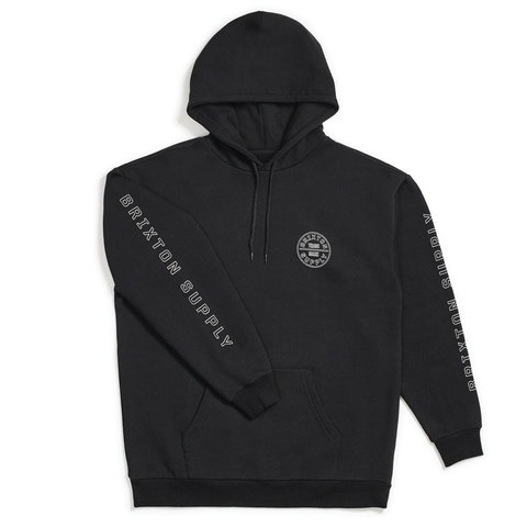 Brixton Oath IV Hood Black/white Md