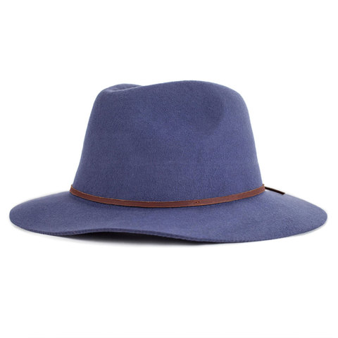Brixton Wesley Fedora Hat Washed Navy Sm