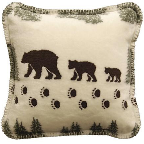 Denali Square Pillow Pearl Denali Bear/sage One Size
