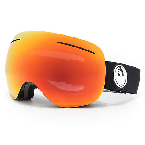 Dragon X1S Goggles Black/red W/rose