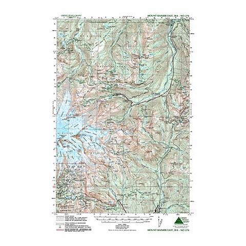Green Trails Maps Mt Rainer East Usoutdoor Com