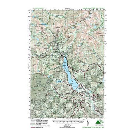 Green Trails Maps Snoqualmie Pass